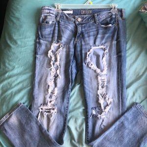 Decree size 15 distressed jeans